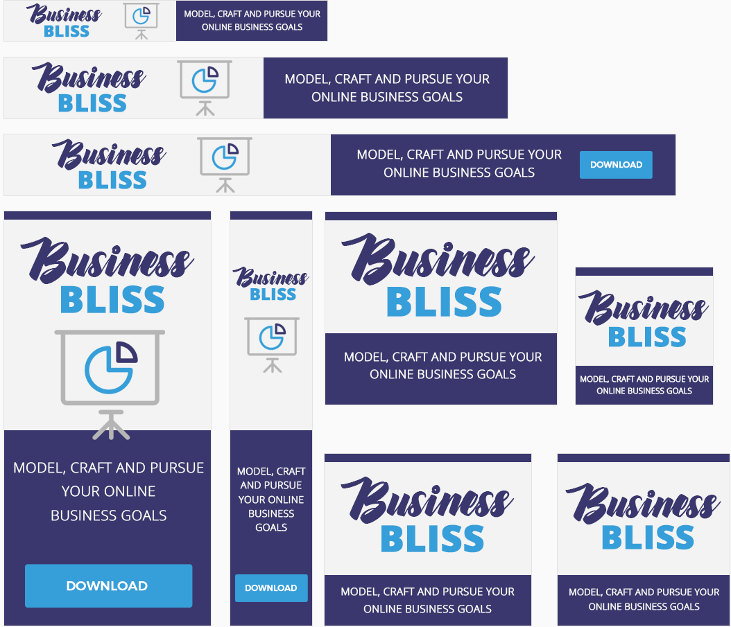 Business Bliss Awesome High-Quality Advertising Banners