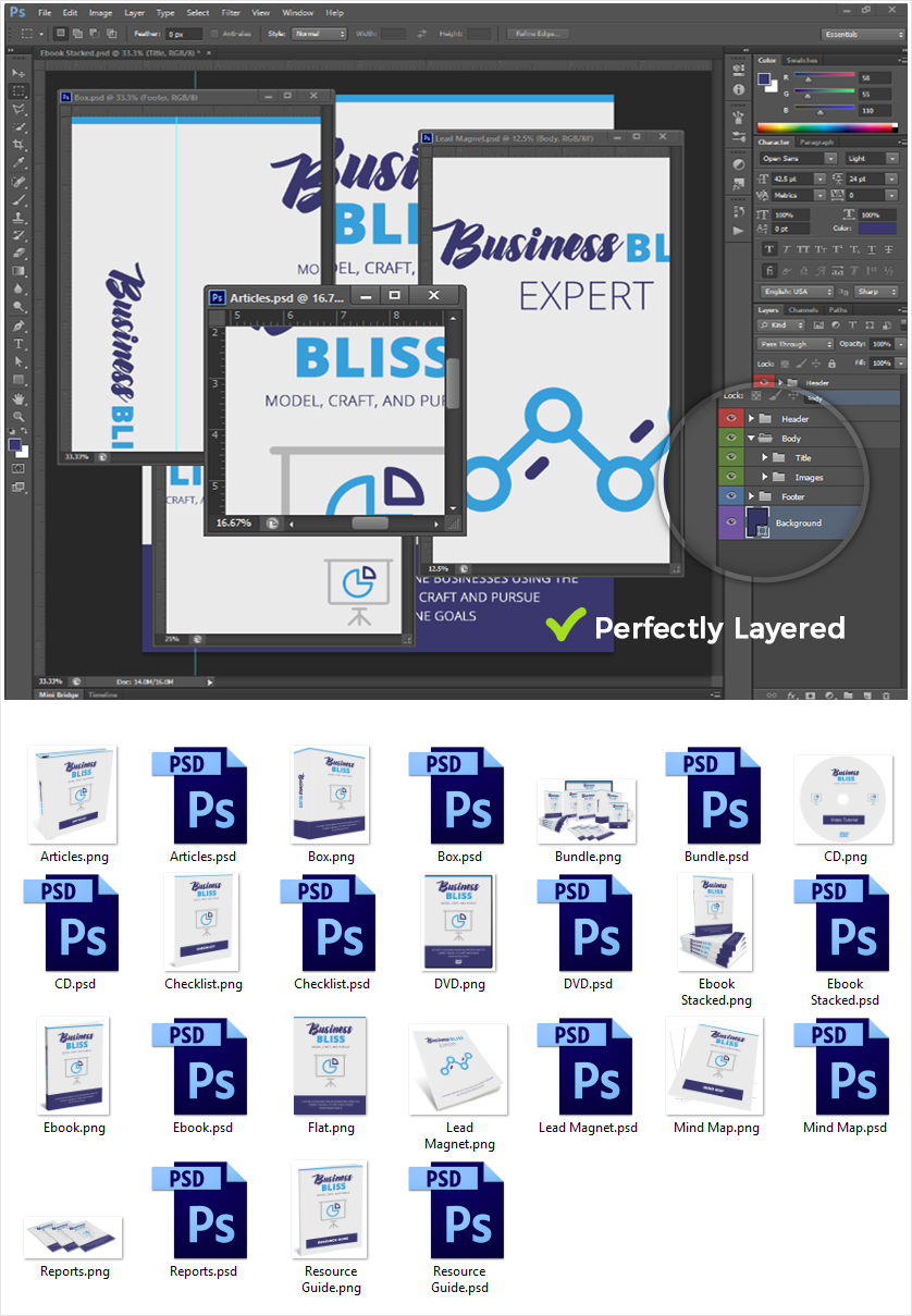 Business Bliss Source Graphic Files