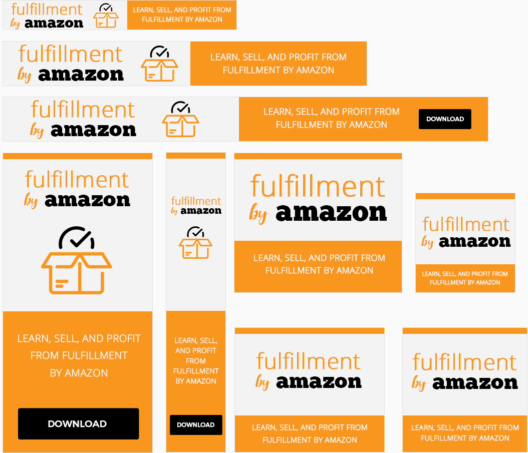 Fulfillment By Amazon Awesome High-Quality Advertising Banners