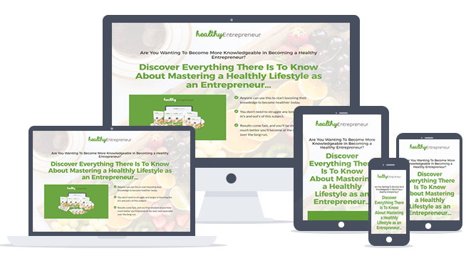 Healthy Entrepreneur Ready-To-Go Sales Letter, Thank You Page and Legal Pages