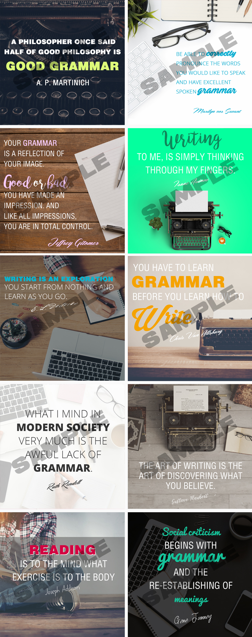 Perfect Grammar Social Media Posters