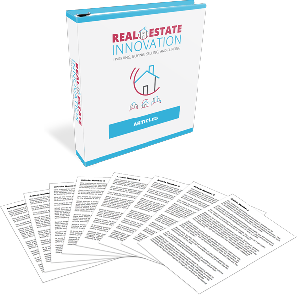 Real Estate Innovation High-Quality PLR Articles