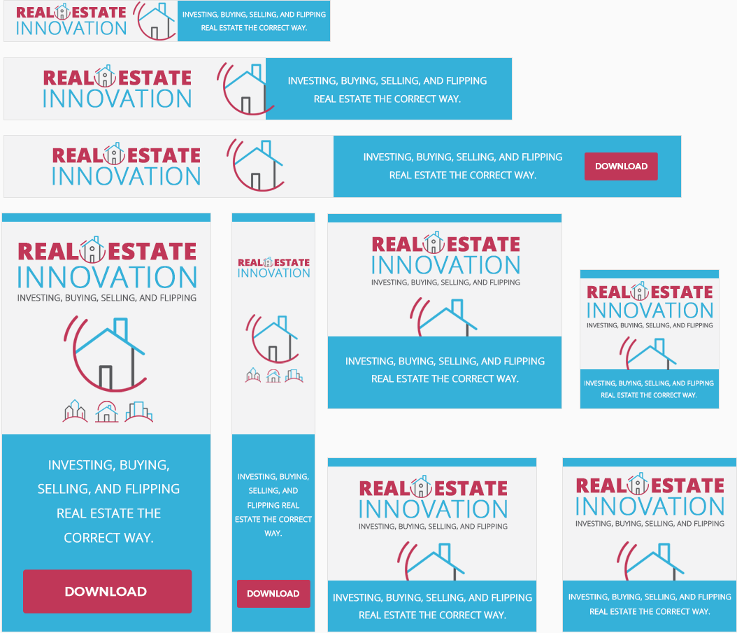 Real Estate Innovation Awesome High-Quality Advertising Banners