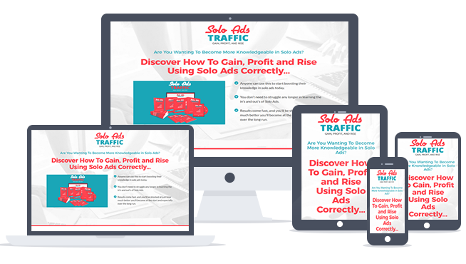Solo Ads Traffic Ready-To-Go Sales Letter, Thank You Page and Legal Pages