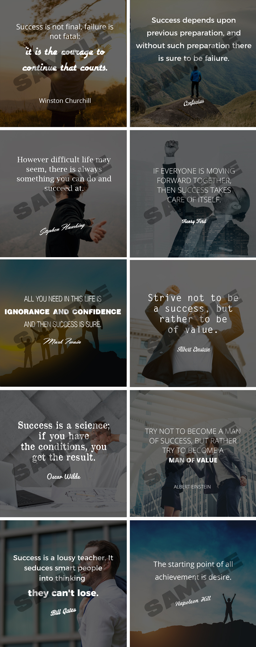 Striving For Success Media Posters
