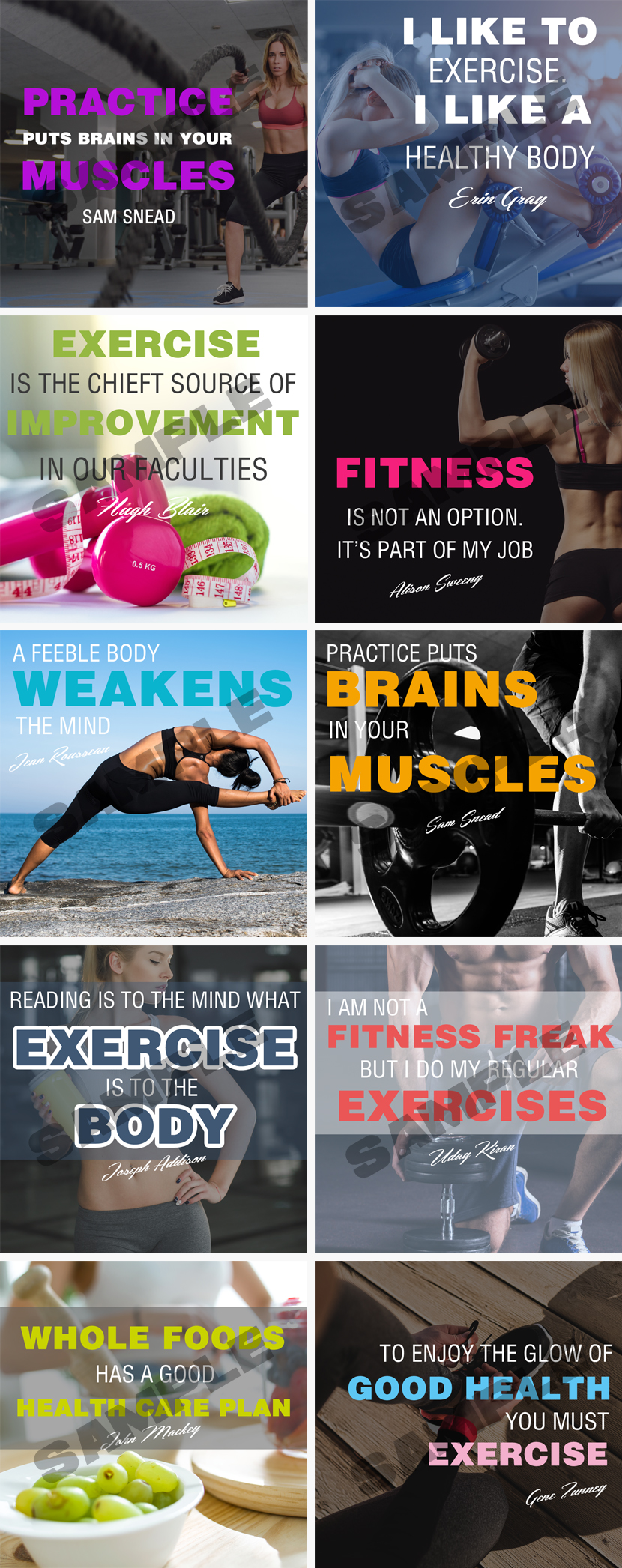 Stronger Fitter Faster Younger Social Media Posters