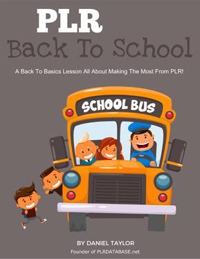 PLR Back To School Basics