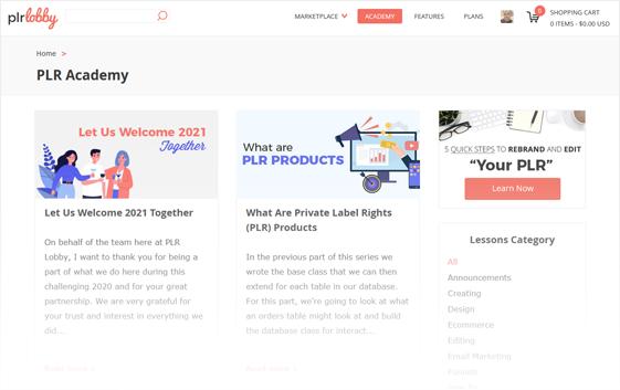 PLR Learning Academy